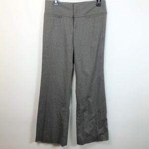 Alice & Olivia 2 Jalisa Gray Pinstriped Wide Pants